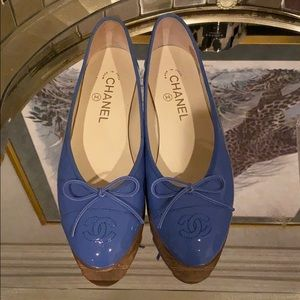 Authentic Chanel Ballet Flats sz 37.5